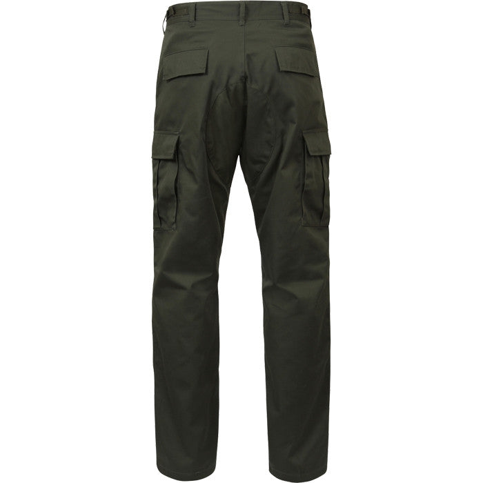 Olive Drab - Military BDU Pants - Cotton Ripstop