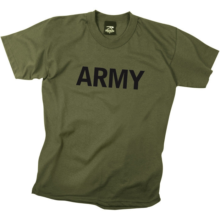 Olive Drab - Kids ARMY Physical Training T-Shirt