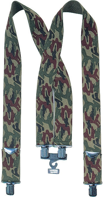 Woodland Camouflage - 2 in. Military Pants Suspenders