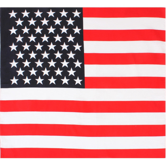 Red White Blue - US American Flag Bandana 27 in. x 27 in.