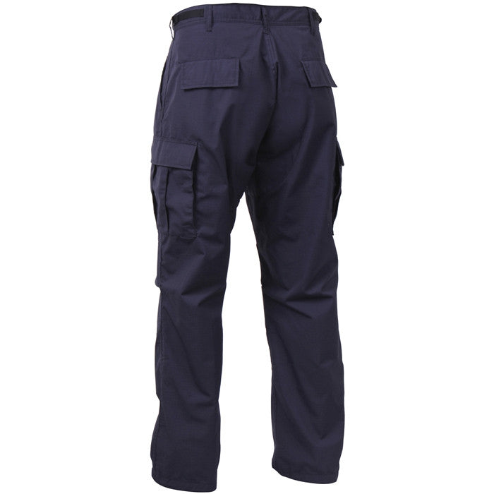 Navy Blue - Military BDU Pants - Cotton Ripstop