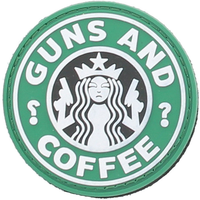 Starbucks Guns and Coffee Morale PVC Velcro Patch