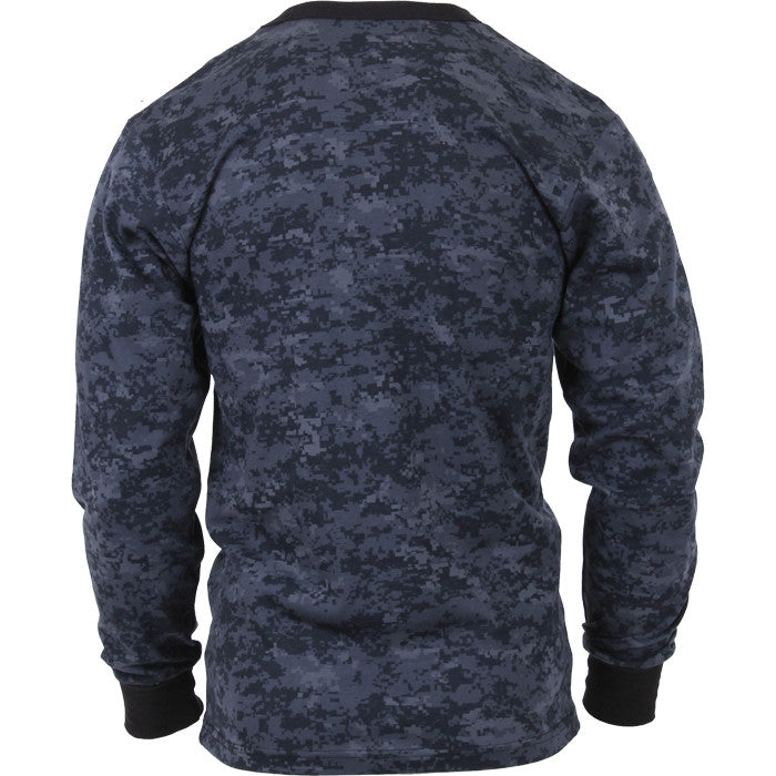 Digital Midnight Camouflage - Military Long Sleeve T-Shirt