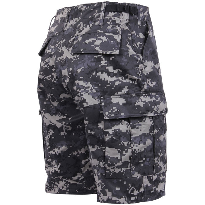 09e4e657 Subdued Urban Digital Camouflage - Military Cargo BDU Shorts - Polyester  Cotton Twill