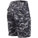 Subdued Urban Digital Camouflage - Military Cargo BDU Shorts - Polyester Cotton Twill