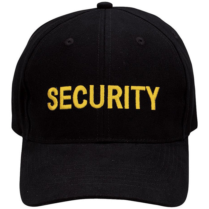 Black - Public Safety SECURITY Adjustable Cap with Gold Lettering