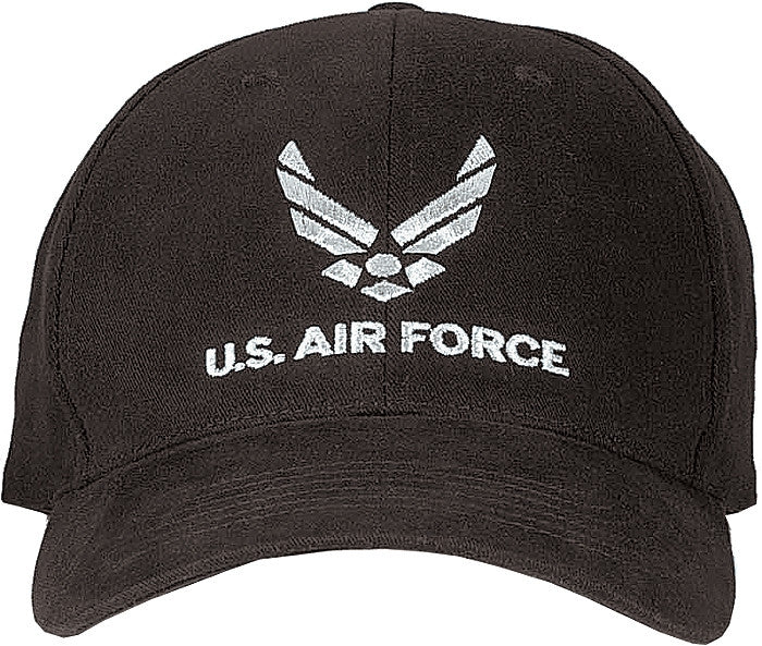 Black - US AIR FORCE Adjustable Cap with US Air Force Emblem