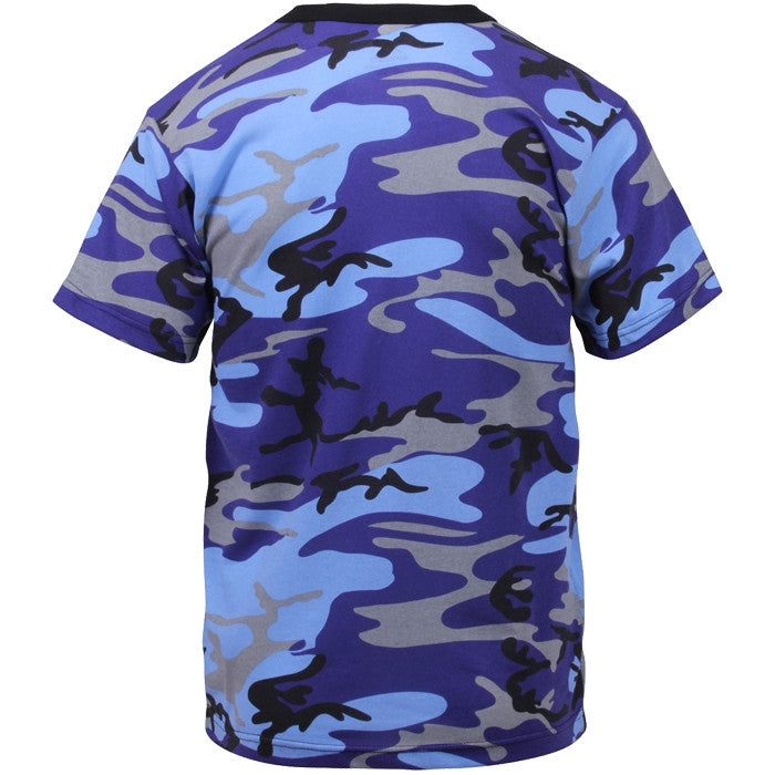 Electric Blue Camouflage - Military T-Shirt