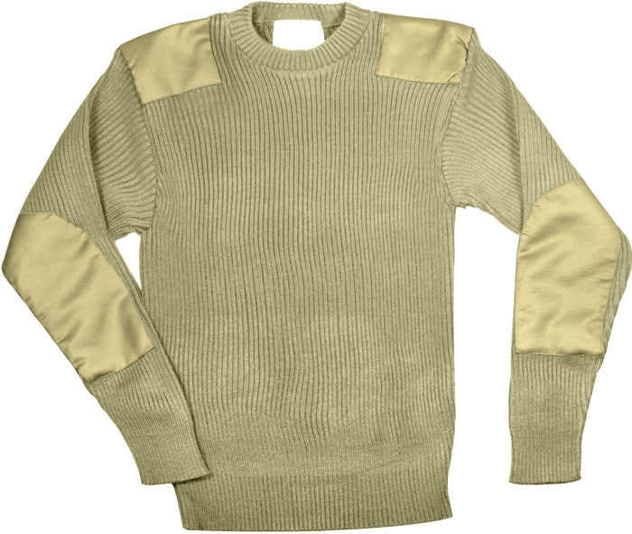 Khaki - GI Style Commando Sweater