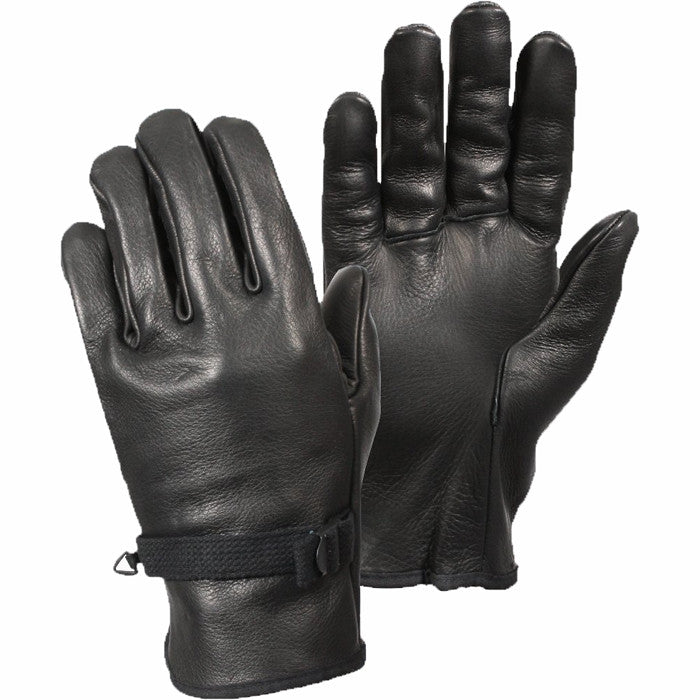 Black - Military D-3A Gloves - Leather