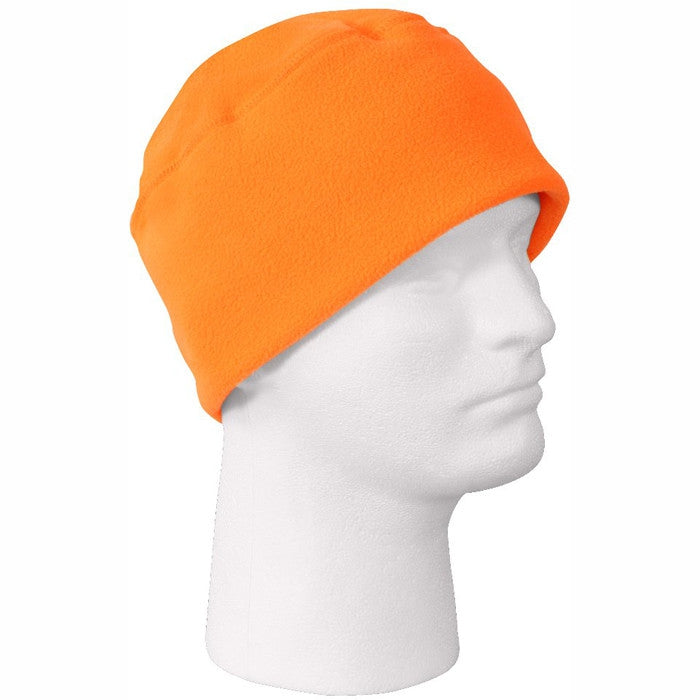 Safety Orange - High Visibility Military Polar Fleece Watch Cap