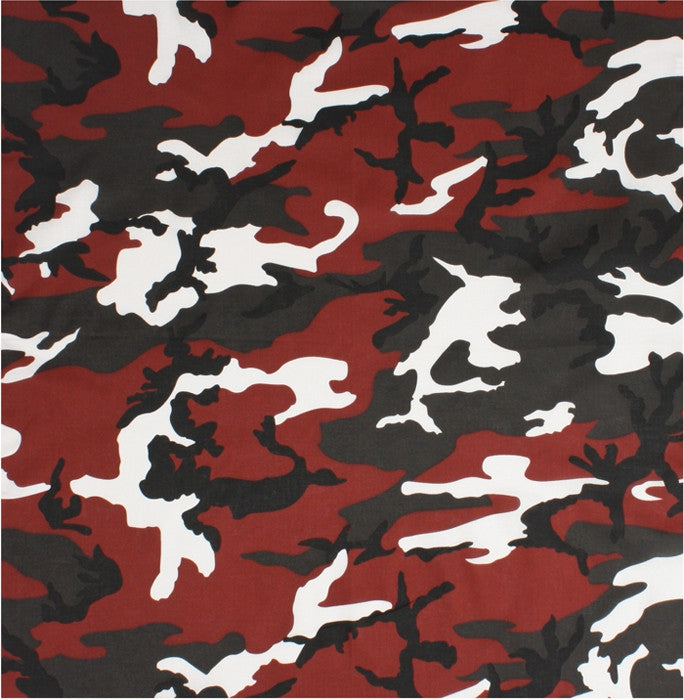 Red Camouflage Military Bandana 22 In X 22 In Army