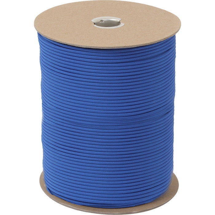 Royal Blue - Military Grade 550 LB Tested Type III Paracord Rope 1000' - Nylon USA Made