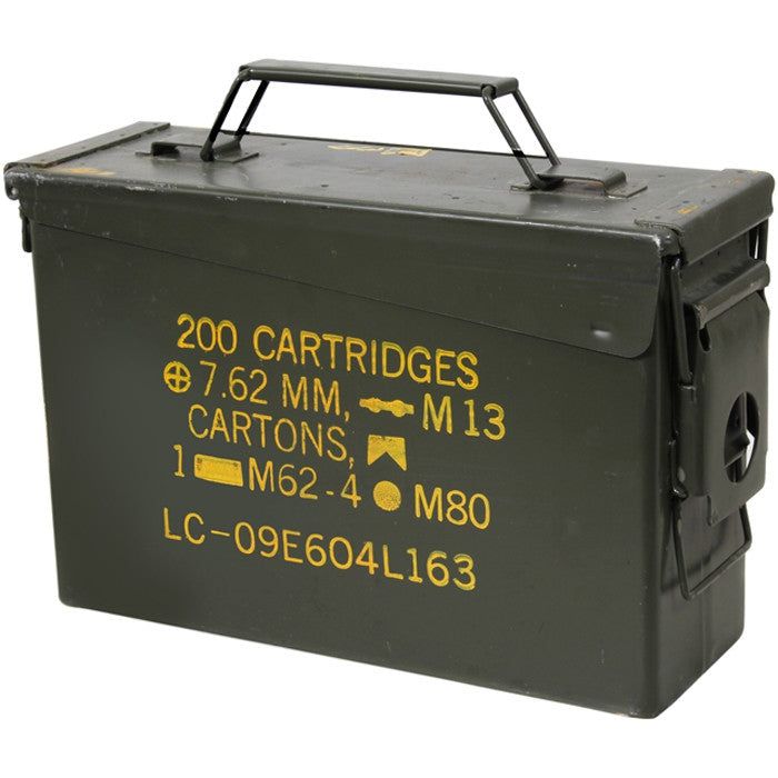 .30 Cal. Metal Ammo Can - Original US Military Surplus Used M19A1