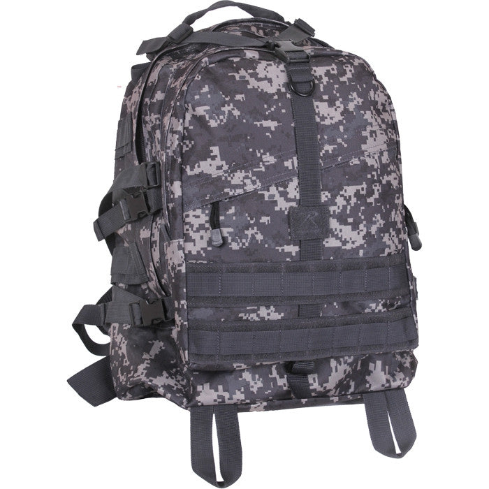 Subdued Urban Digital Camouflage - Military MOLLE Compatible Large Transport Pack