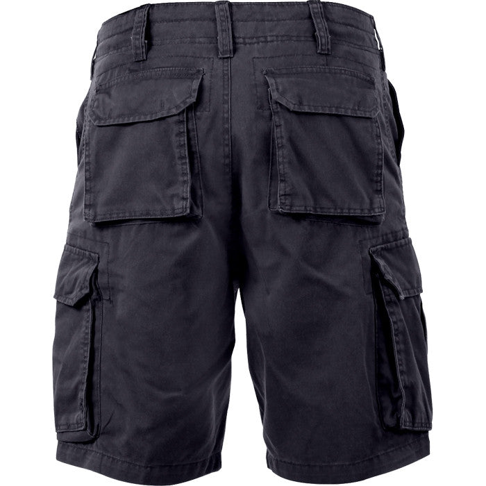Black - Military Vintage Paratrooper Cargo Shorts