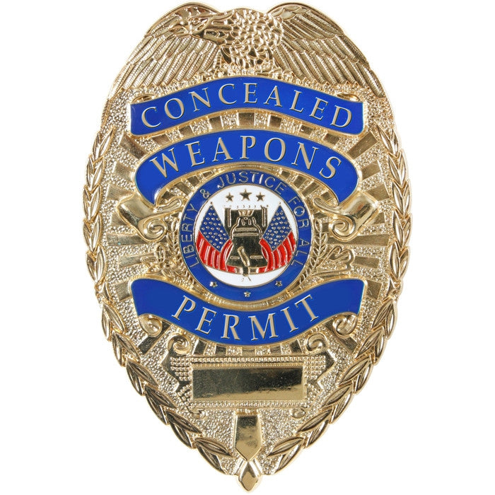 Gold - Deluxe Public Safety Concealed Weapons Permit Badge
