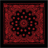 Black   Red - Trainmen Jumbo Bandana 27 in. x 27 in.