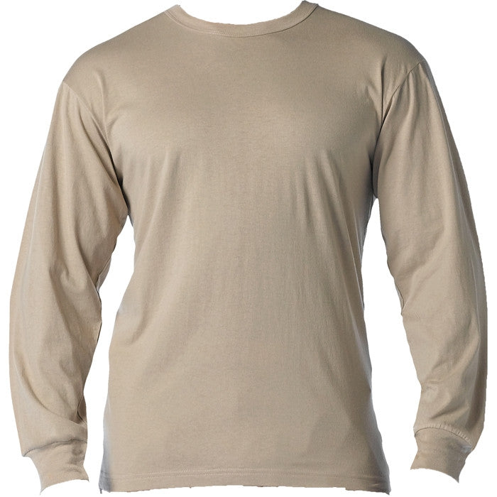 Sand - Long Sleeve Military T-Shirt