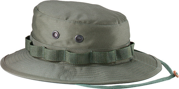 Olive Drab - Military Boonie Hat - Cotton Ripstop 2add6e82eff