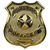 Gold - SECURITY OFFICER Pin-On Badge