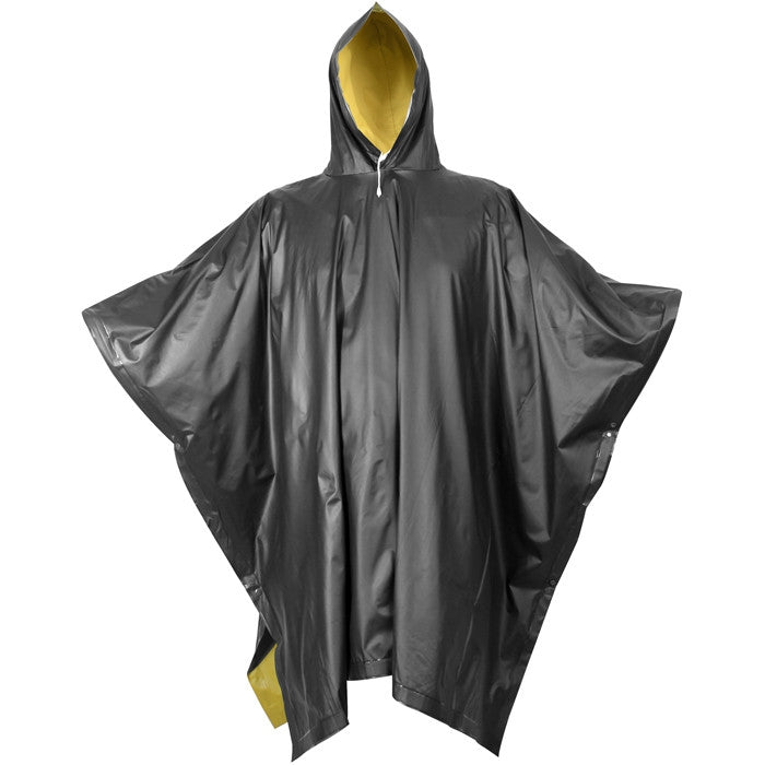 Black To Yellow - Reversible Wet Weather Rain Poncho - PVC