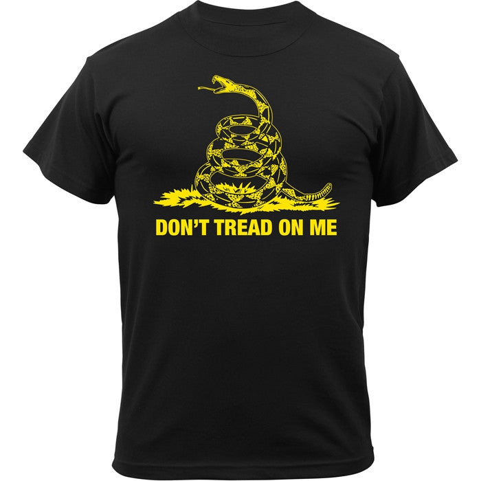 Black - Military Vintage DON'T TREAD ON ME T-shirt