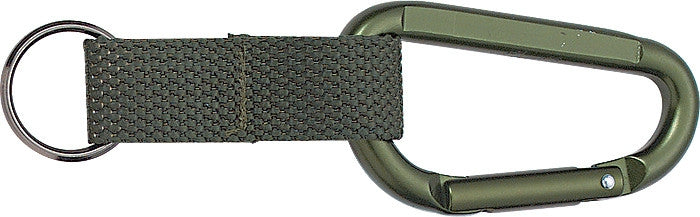 Olive Drab - Professional Jumbo Carabiner with Web Strap Key Ring - 80mm