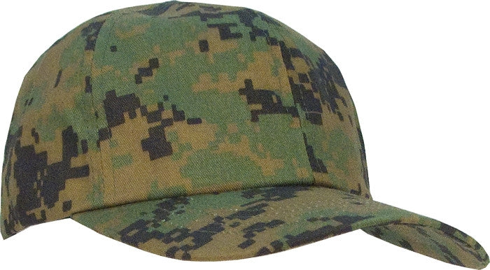 Digital Woodland Camouflage - Kids Military Adjustable Baseball Cap