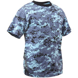Digital Sky Blue Camouflage - Kids Military Camo T-Shirt