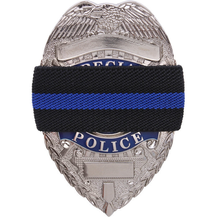 Black - Thin Blue Line Support the Police Mourning Band