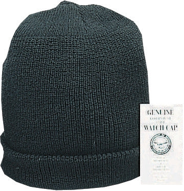 Black - Genuine GI Wintuck Watch Cap - Piltrol Acrylic USA Made