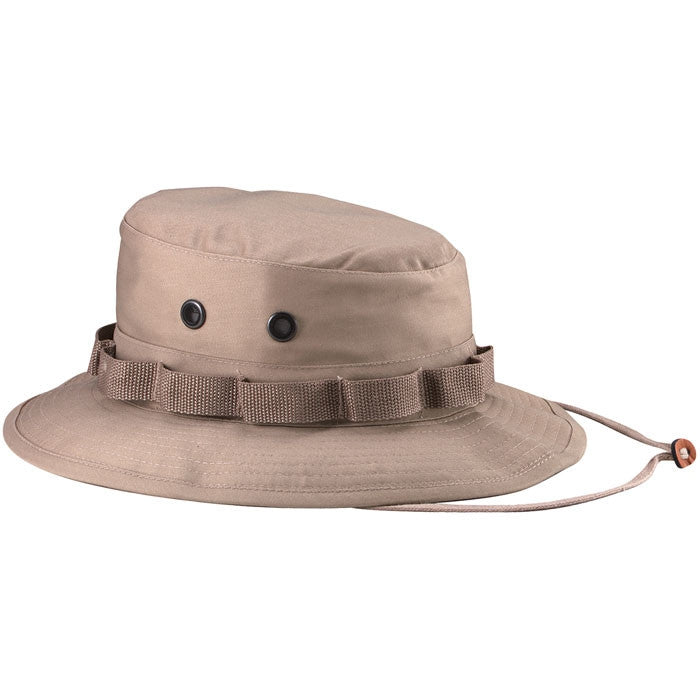 Khaki - Military Boonie Hat - Polyester Cotton