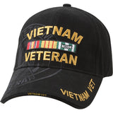 Black - VIETNAM VETERAN Low Profile Shadow Deluxe Adjustable Cap