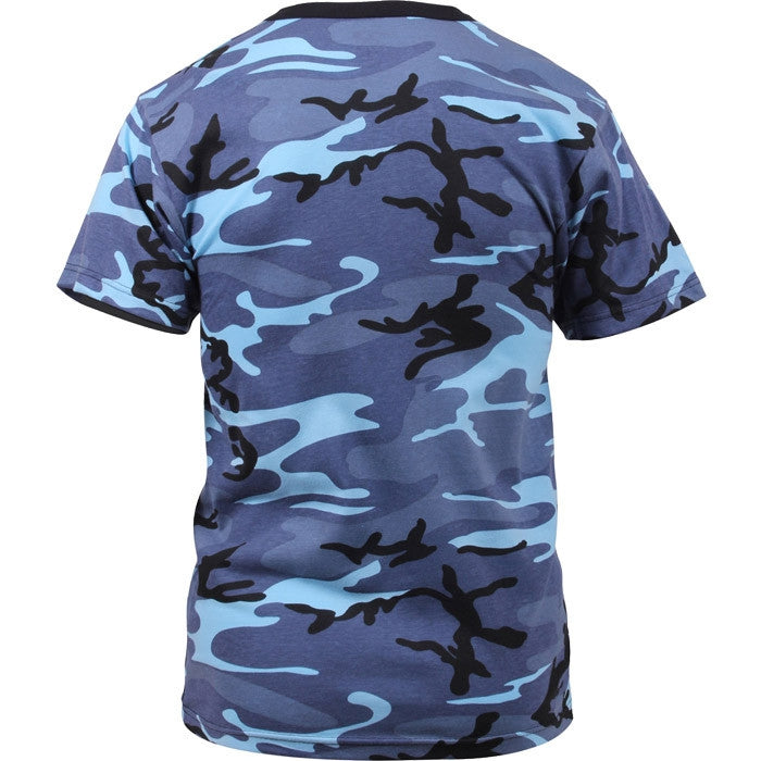 Sky Blue Camouflage - Military T-Shirt