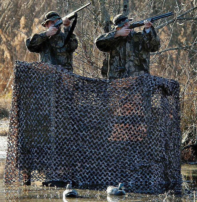 Green Brown - Light Weight Camo Netting Medium Size 7'10 in. x 9'10 in.