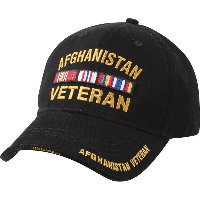 Black - AFGHANISTAN VETERAN Low Profile Deluxe Adjustable Cap