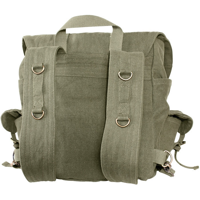 Olive Drab with Black - Compact Weekender Backpack With Cross