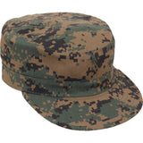 Digital Woodland Camouflage - Adjustable Military Fatigue Cap - Polyester Cotton