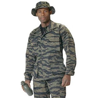 Tiger Stripe Camouflage - Military BDU Shirt - Polyester Cotton Twill
