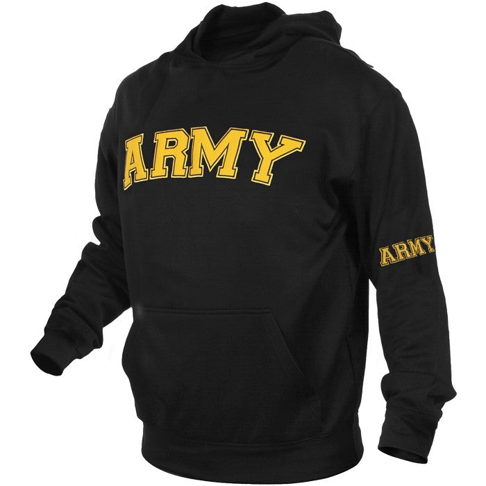 Black - Military US ARMY Pullover Hoodie Sweatshirt