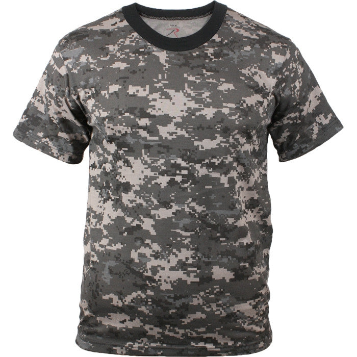 Subdued Urban Digital Camouflage - Military T-Shirt