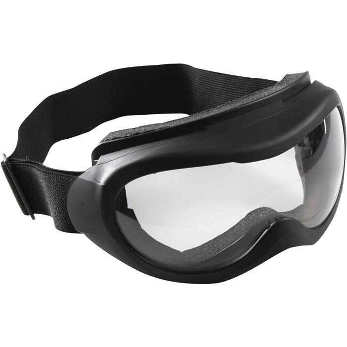 Black - Anti-Scratch Tactical Wind Storm Goggles - Clear Lenses