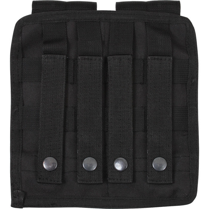 Black - Tactical MOLLE Double 9MM Pistol Mag Pouch & Inserts
