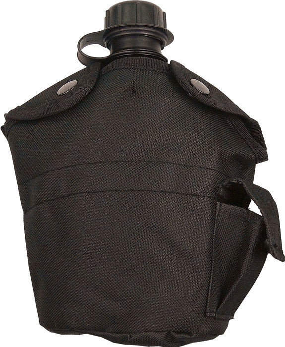 Black - Military GI Style 1 Quart Canteen Cover - Nylon