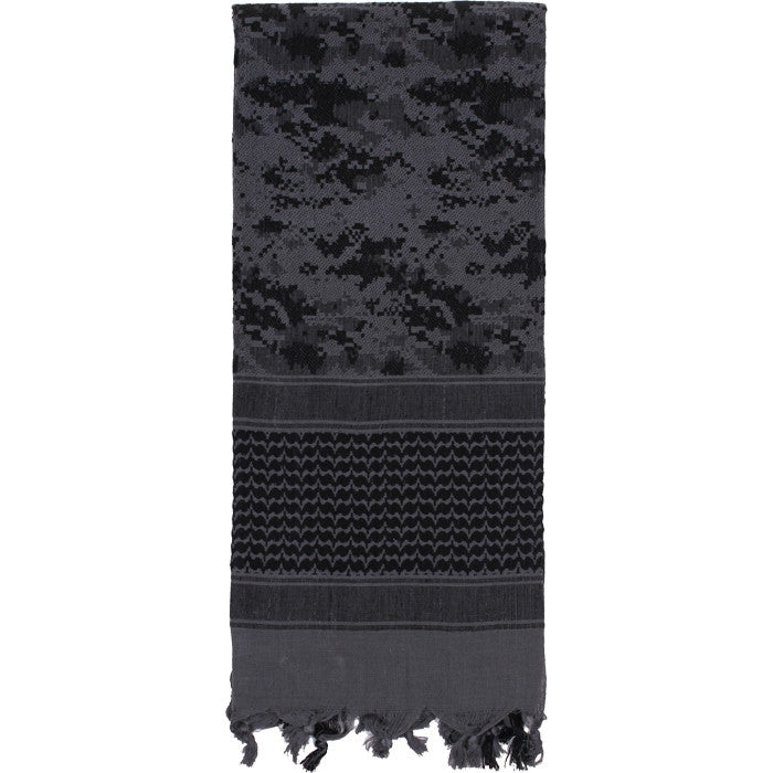 Subdued Urban Digital Camouflage - Shemagh Tactical Desert Scarf