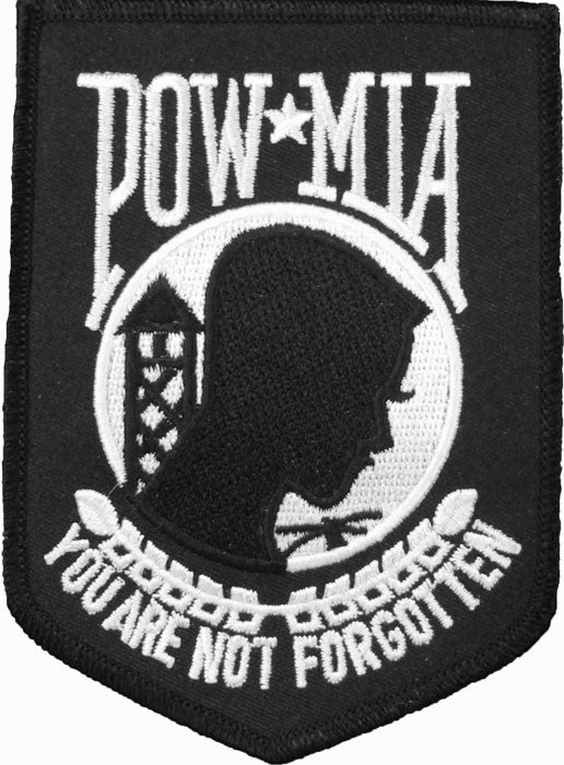 Black - Military POW MIA Patch