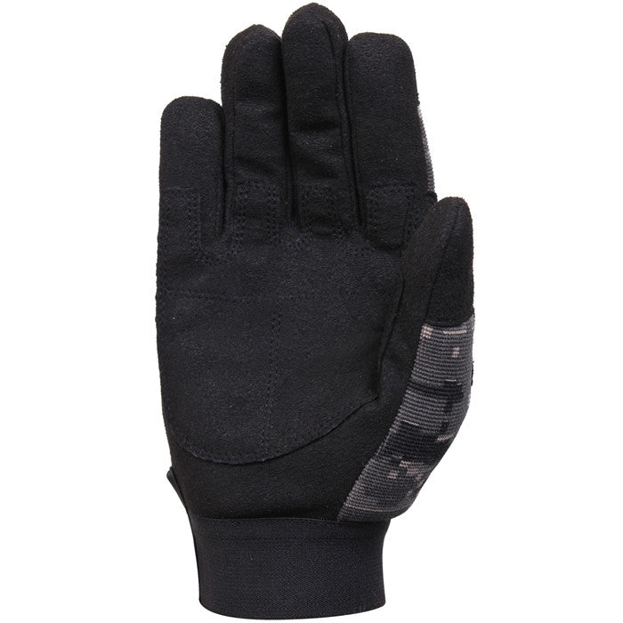 Subdued Urban Digital Camouflage - Lightweight All Purpose Tactical Duty Gloves