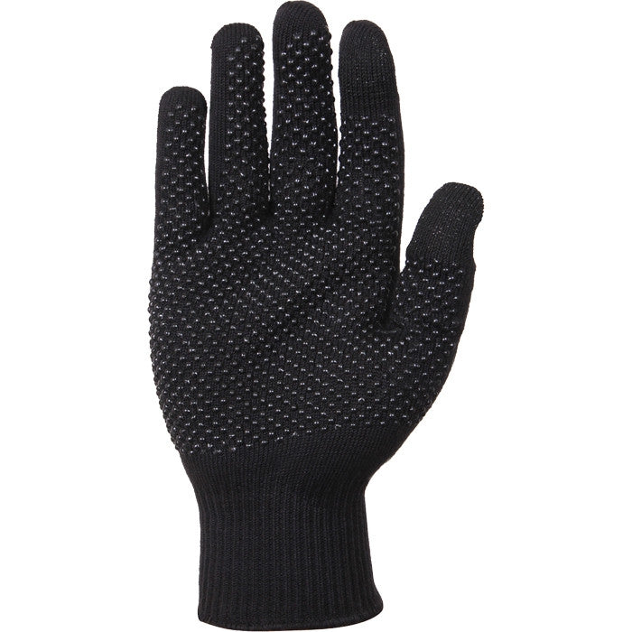 Black - Touch Screen Gloves with Gripper Dots