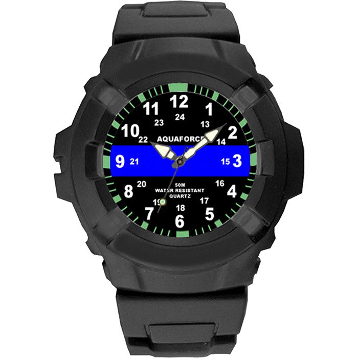 Aquaforce - Thin Blue Line Watch